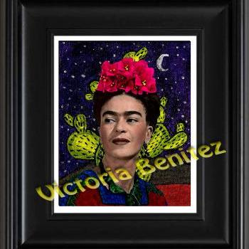 FRIDA KAHLO day of the dead BUGAMBILIAS digital oil painting design 8