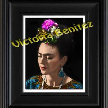 FRIDA KAHLO day of the dead PRETTY digital oil painting design 8