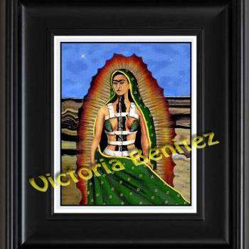 FRIDA KAHLO day of the dead BROKEN COLUMN digital oil painting design 8