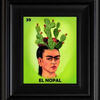 FRIDA KAHLO day of the dead LA LOTERIA EL NOPAL CARD digital oil painting design 8